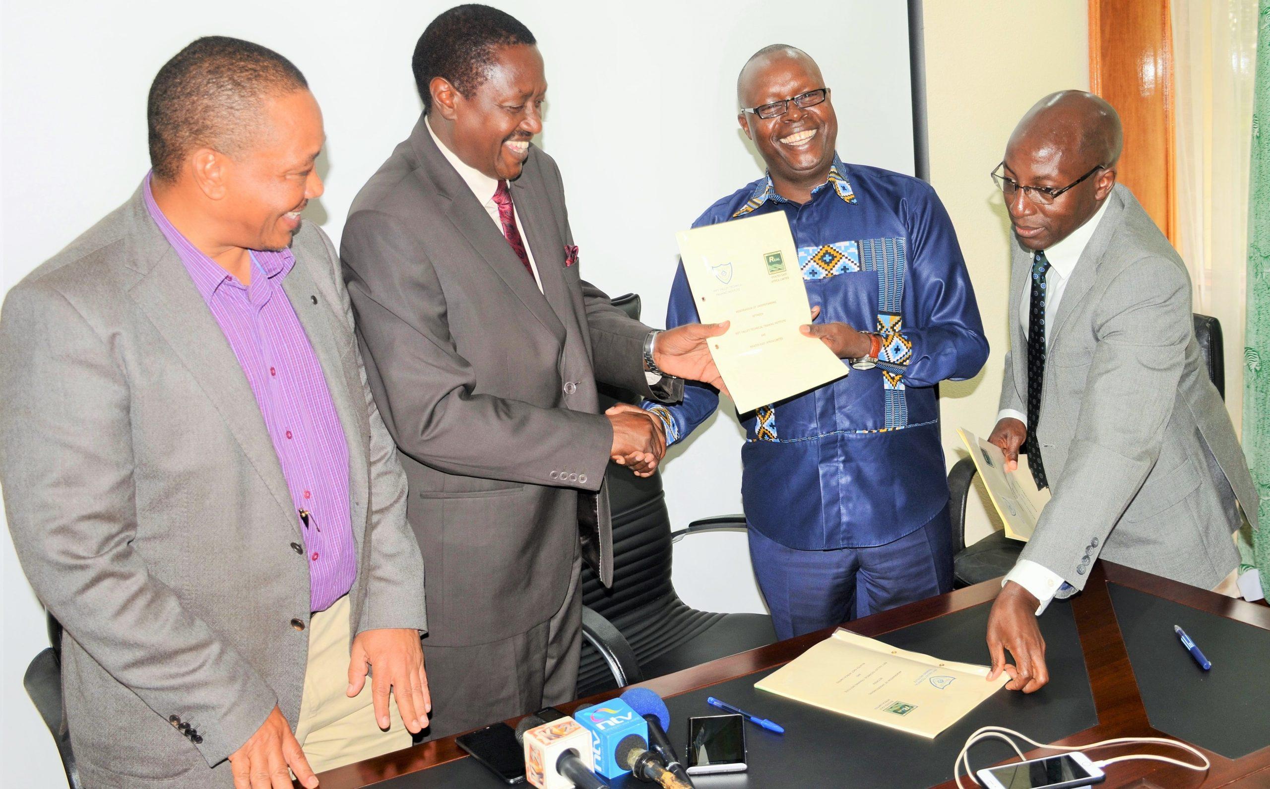 Rivatex East Africa signed an MOU with Rift Valley Technical Training Institute (RVTTI)